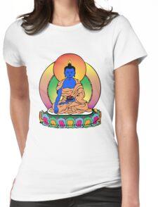 Buddhist Blue Buddha Womens Fitted T-Shirt