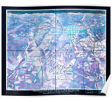 Civil War Maps 1276 Perspective view of Gettysburg National Military Park Inverted Poster