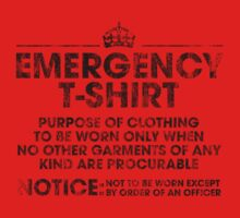 EMERGENCY T-SHIRT Kids Tee