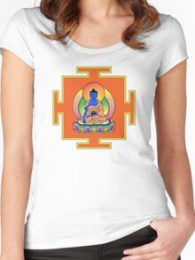 Yantra Blue Buddha Women's Fitted Scoop T-Shirt