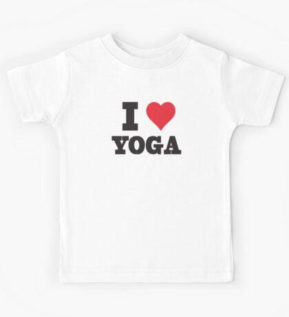 I Love Yoga Kids Tee
