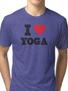I Love Yoga Tri-blend T-Shirt