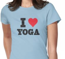 I Love Yoga Womens Fitted T-Shirt