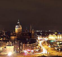 Amsterdam skyline by night by PotterIancito