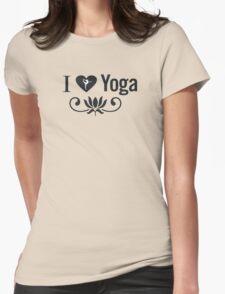 I Love Yoga V2 Womens Fitted T-Shirt