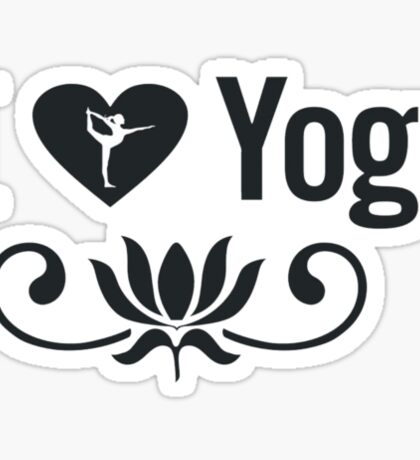 I Love Yoga V2 Sticker