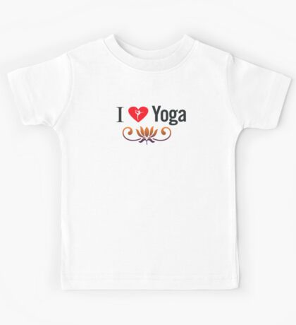 I Love Yoga V3 Kids Tee