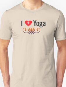 I Love Yoga V3 Unisex T-Shirt