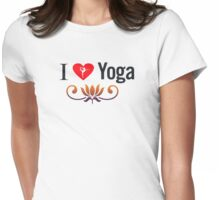 I Love Yoga V3 Womens Fitted T-Shirt