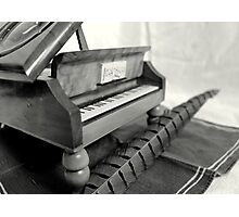 Piano and quill Photographic Print