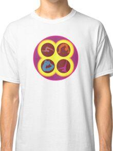Pop Art Yoga Poses Classic T-Shirt