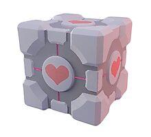Portal Companion Cube Photographic Print
