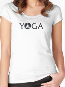 Yoga Meditate Women's Fitted Scoop T-Shirt