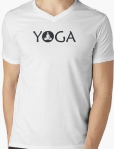 Yoga Meditate Mens V-Neck T-Shirt
