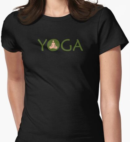Yoga Meditate V2 Womens Fitted T-Shirt
