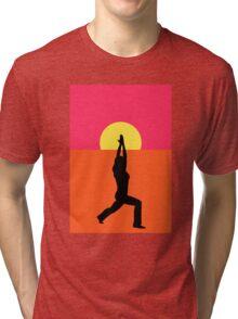 Pop Art Yoga Warrior Tri-blend T-Shirt