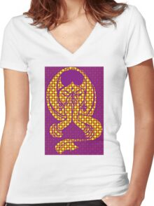 Pop Art Namaste Woman Women's Fitted V-Neck T-Shirt