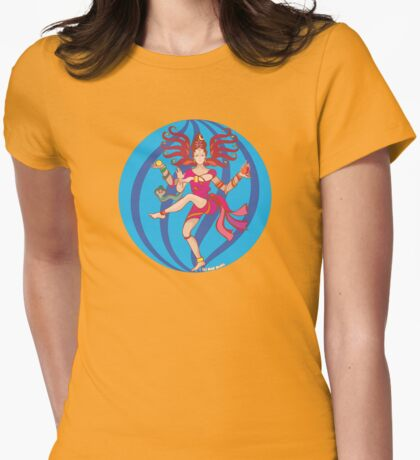 Shiva Shakti Dancer Womens Fitted T-Shirt