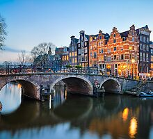 Sunset in Amsterdam by Michael Abid