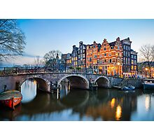 Sunset in Amsterdam Photographic Print