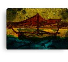 An ancient ship Canvas Print