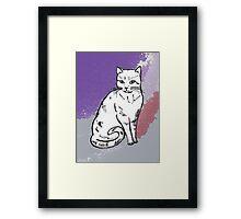 Cute Sitting Cat Framed Print