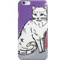 Cute Sitting Cat iPhone Case/Skin