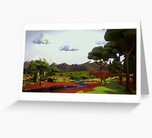 Low Poly Cretaceous Greeting Card