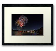 Easter Fireworks  Framed Print