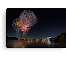Easter Fireworks  Canvas Print