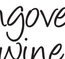 Wine Flu Sticker
