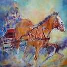 Horses & Carriage Race Painting by Ballet Dance-Artist