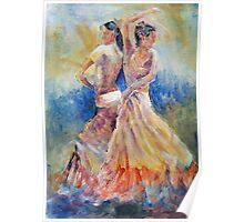 Double Flamenco - Dance Art Gallery Poster