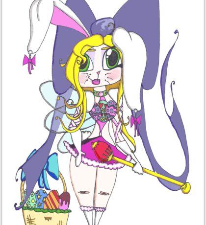 Easter Nymph Cartoon Sticker