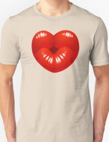 Heart Kiss Cool Kids Clip Art Unisex T-Shirt