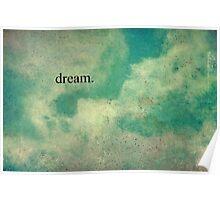 Dream Vintage Sky Pattern Poster