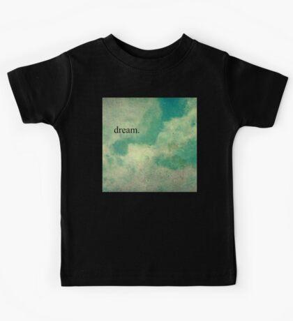 Dream Vintage Sky Pattern Kids Tee