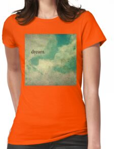Dream Vintage Sky Pattern Womens Fitted T-Shirt