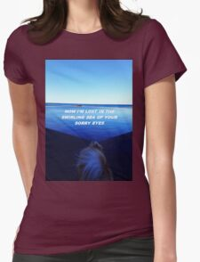 """Lost in the swirling sea"" Womens Fitted T-Shirt"