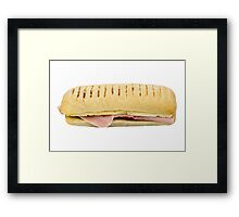 Panini With Cheese Ham and Tomato Framed Print