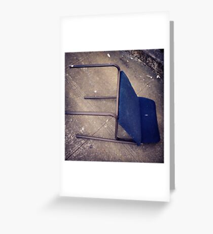 """Blue """"Recliner"""" on Broadway Greeting Card"""