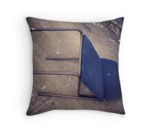 "Blue ""Recliner"" on Broadway Throw Pillow"