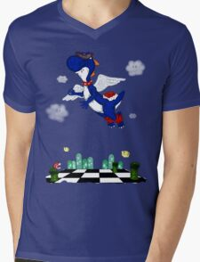 Boshi Takes Flight Mens V-Neck T-Shirt