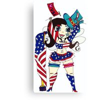 Fourth of July Nymph Canvas Print