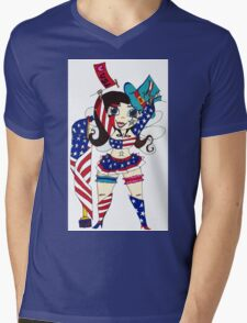 Fourth of July Nymph Mens V-Neck T-Shirt