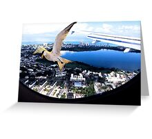 Soaring about the clouds Greeting Card