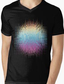 Psychedelic Glitch  Mens V-Neck T-Shirt