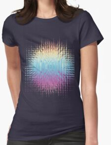 Psychedelic Glitch  Womens Fitted T-Shirt