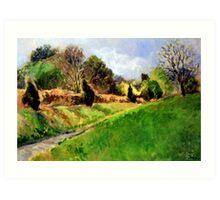 Light-Filled Landscape (Smoky Landscape) Art Print