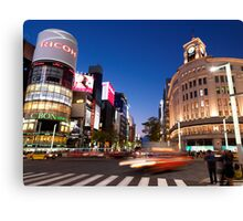 Wako Department Store in Ginza Tokyo Japan art photo print Canvas Print